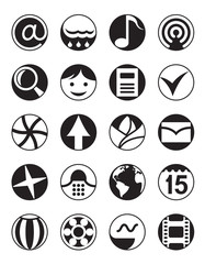Smartphone menu icons set
