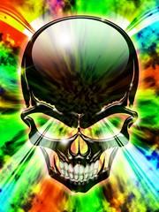 Teschio Psichedelico Colori-Psychedelic Skull Colors