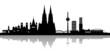 Köln Skyline central mit Schatten