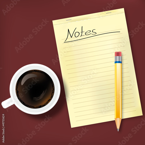 Coffee break with notes
