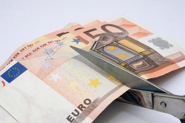 Recorte del euro