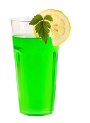 green peppermint cocktail
