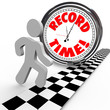 Record Time Runner Beats Clock for Best Timing