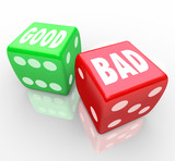 Good Vs Bad Dice Lucky Roll to Decide Answer poster