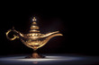 Magic Aladdin's Genie lamp on black