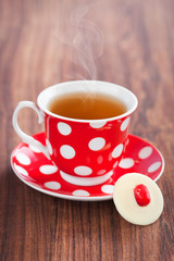 Cup of tea and white chocolate