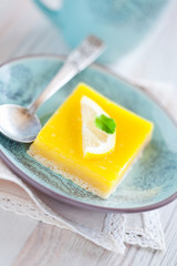 Lemon grenadilla tart