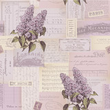 Fototapety seamlessly tiling paper collage pattern with lilac