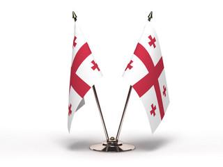 Miniature Flag of Georgia (Isolated)