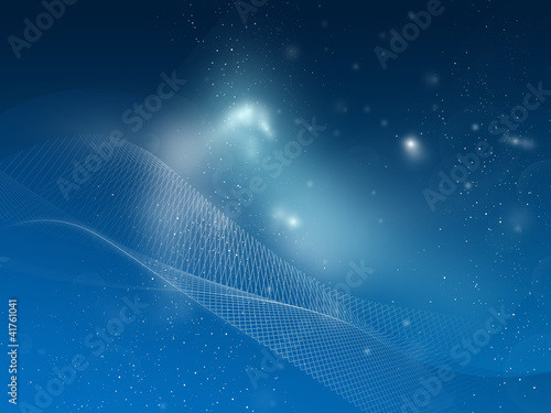 Blue mesh space, background