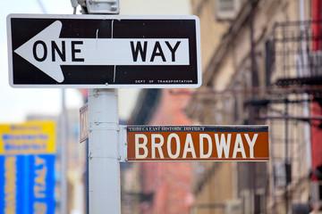 One Way Broadway Street Signs, Manhattan, New York
