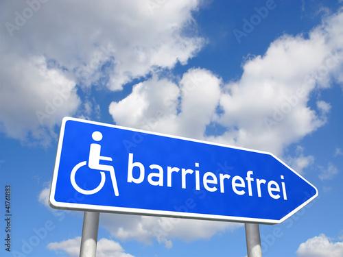 Wegweiser barrierefrei