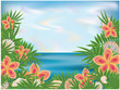 Summer time background, vector illustration
