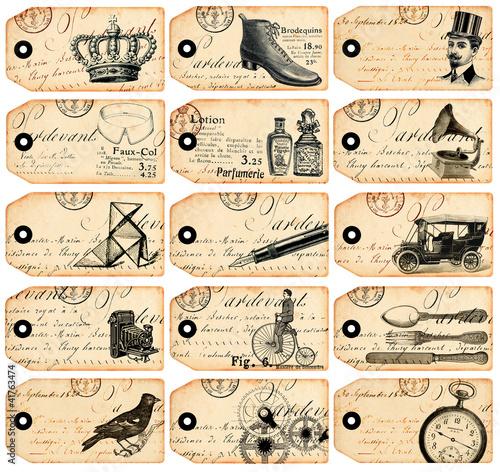 15 étiquettes vintage