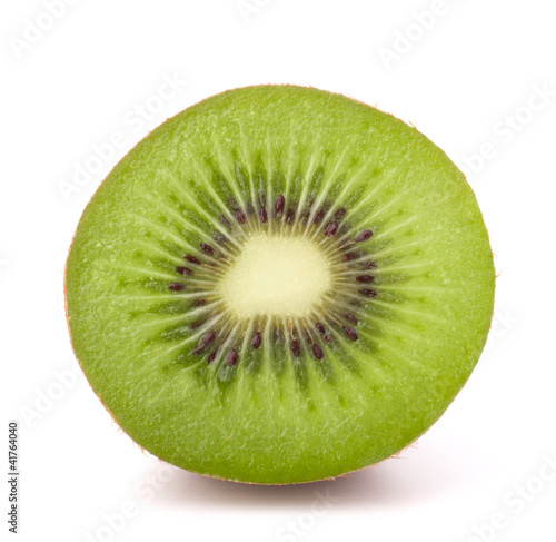 One kiwi fruit half