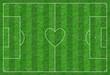 Fußballplatz mit Herz