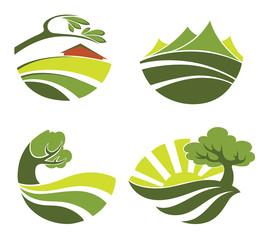 vector collection of landscape symbols
