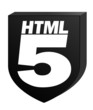 HTML5 Black on White