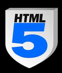 HTML5 Blue on Black