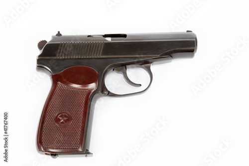 makarov system pistol isolated on white background