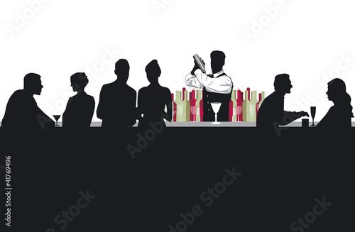 Cocktail-Bar mit Barkeeper - 41769496