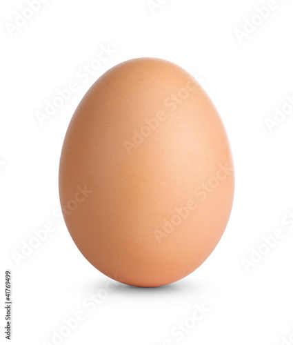 Fotobehang Egg Close up of an egg isolated on white with clipping path