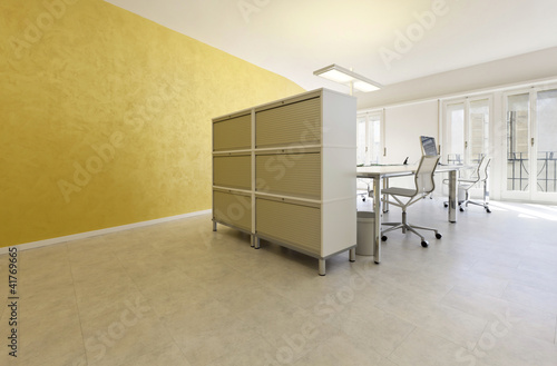 modern office interior design, large room