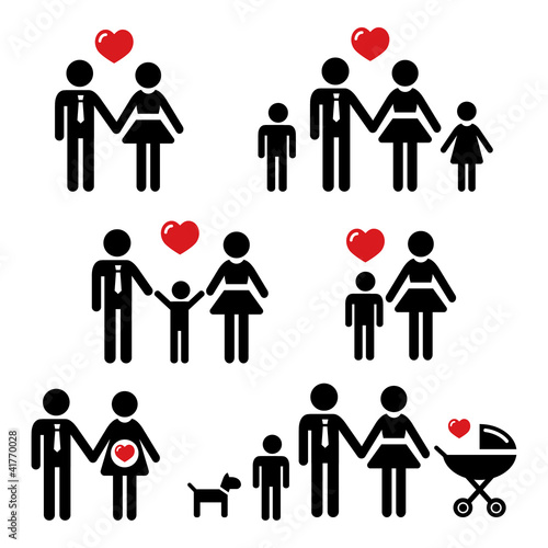 Family people icons