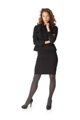 Full size portrait of attractive businesswoman