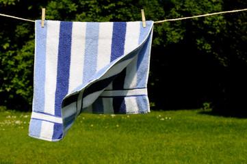 Handtuch an der Leine