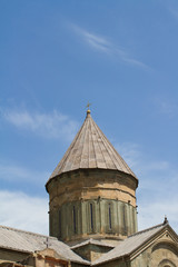 Roof of of old Orthodox cathedral in Mtskheta