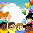Bambini arcobaleno insieme-Rainbow Children together