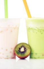 Kiwi Slash Boba Drink
