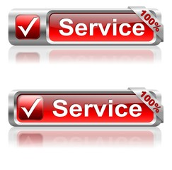 Button of 100 % of service