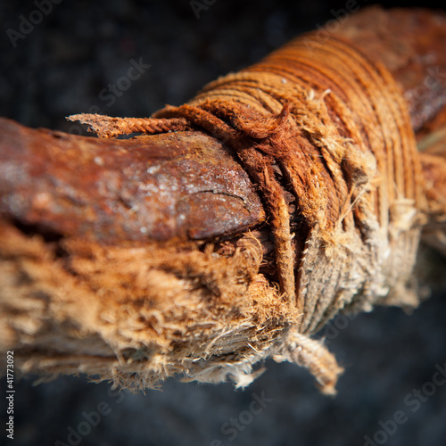 Rotten cord and rusty iron