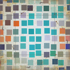 grunge squares abstract pattern