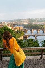 young woman travelling in Europe