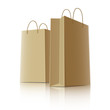 Shopping paper bags, vector illustration