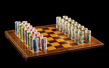 Euros versus dollars rivalry