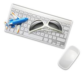 sunglasses plane computer