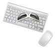 sunglasses on keyboard