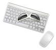 sunglasses on keyboard