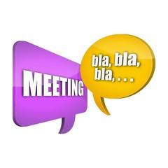 sprechblasen v3 meeting bla bla bla ... I