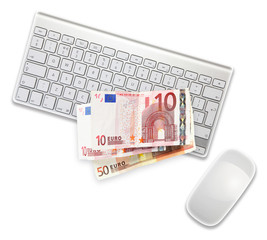 euros on keyboard