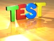Word Test on yellow background