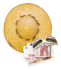 sun hat sunglasses euros