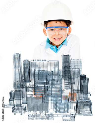 Young male architect