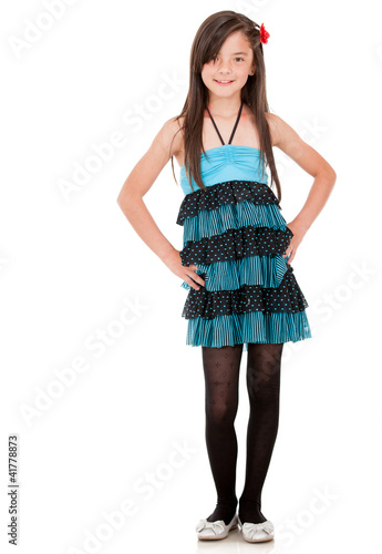 Young girl in a dress