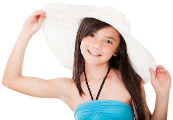 Girl wearing a hat