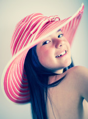 Summer girl with a hat